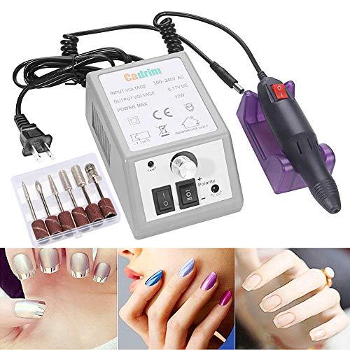 Electric Nail Drill Cadrim Nail Drill Machine Nail File Drill Set Kit for Acrylic Nails Gel Nail Glazing Nail Drill Nail Art Polisher Sets Glazing Nail Drill Fast Manicure Pedicure