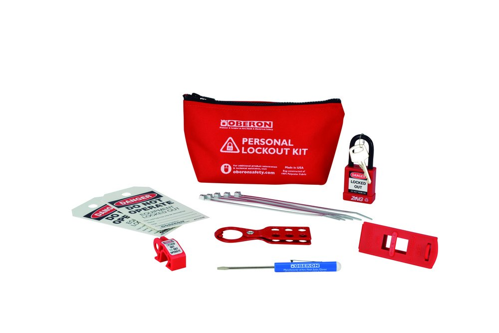 Oberon LOTO-PERSONAL Personal LOTO Electrical Kit, Red