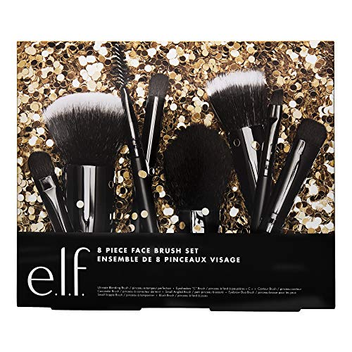 e.l.f. 8 Piece Face Brush Holiday Set, 8 Count