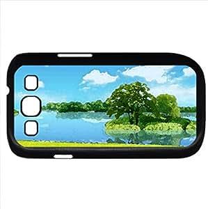 Letni krajobraz (Rivers Series) Watercolor style - Case Cover For Samsung Galaxy S3 i9300 (Black)