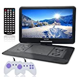 Electronics : 15.6 Inch Portable DVD Player for Car with Games Function for Kids, USB/SD Slot (Black)