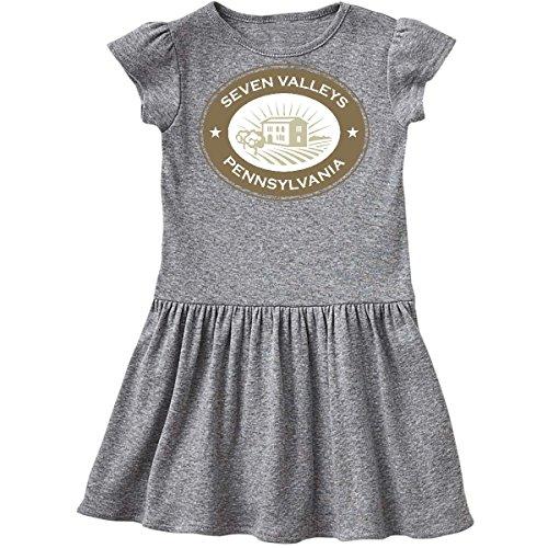 inktastic Seven Valleys Pennsylvania Infant Dress 6 Months Heather Grey 1e241 (Pennsylvania Valley)