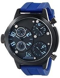 Joshua & Sons Men's JS-40-BU Analog Display Quartz Blue Watch
