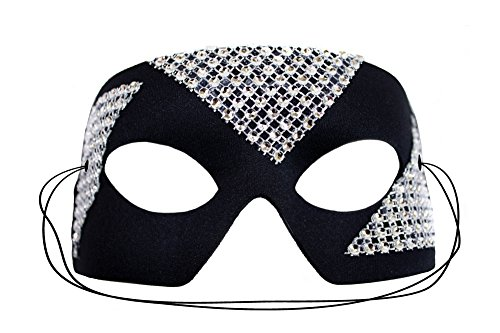 Edge Silver Black Men's Masquerade Mask