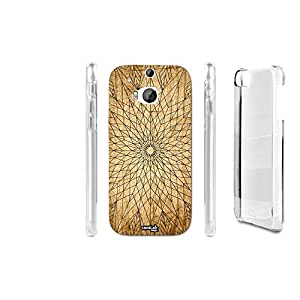FUNDA CARCASA EFFETTO LEGNO STELLA WIREFRAME PARA HTC ONE M8