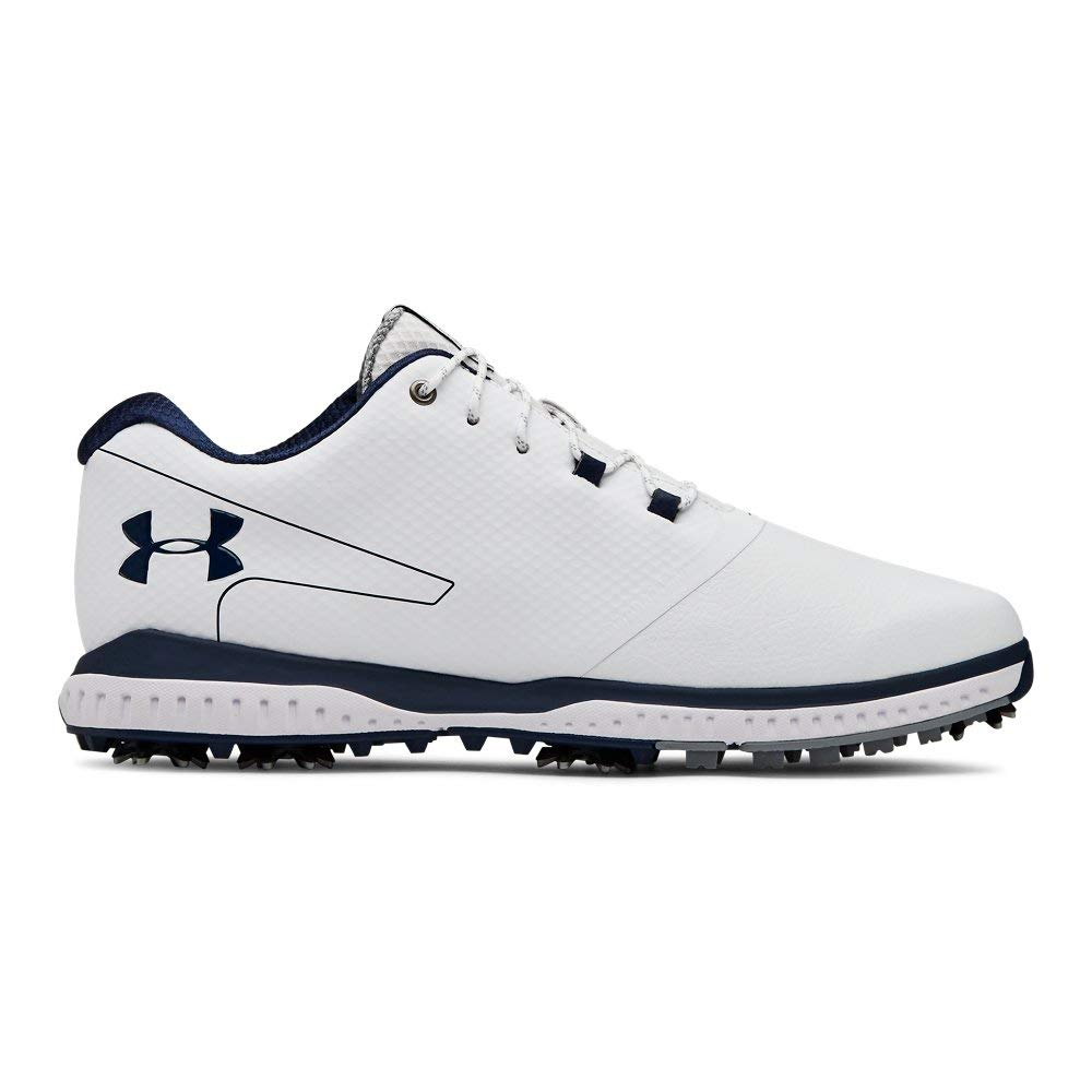 Under Armour Men's Fade RST II Golf Shoe, White (100)/Steel, 11 M US by Under Armour