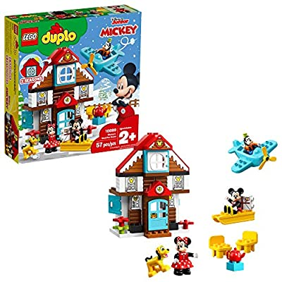 LEGO DUPLO Disney Mickey's Vacation House 10889 Toy House Building Set for Toddlers with Minnie Mouse, Goofy, Pluto and Mickey Mouse Figures (57 Pieces): Toys & Games