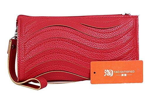 Clutch Bag - Toogoo (r) Clutch Bag Pu Leather Fashion Candy Color Small Messenger Bag Purse Shoulder Red