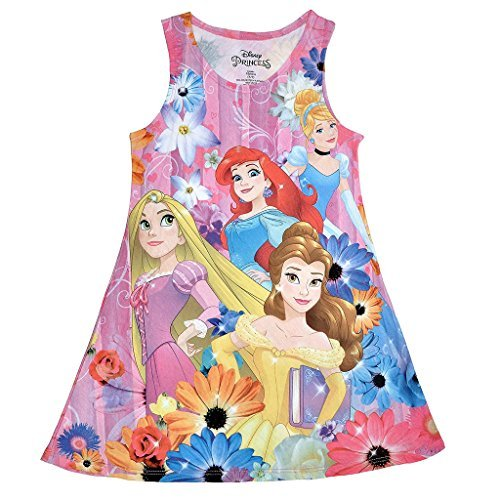 Disney Princess Girls' Sublimated Tank Dress XS(4/5)]()