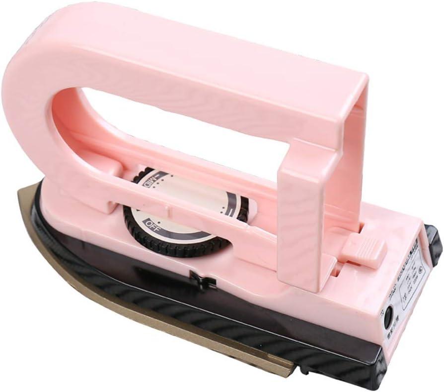 Y&J Plancha eléctrica Plegable, Mini Plancha Plegable portátil, Plancha eléctrica de Doble Voltaje a Prueba de Polvo compacta pequeña Escuela de Viaje Ropa para el hogar 100-240v