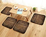 Jiahonghome Comfortable Chair Cushions Brown Wood Texture Abstract Background,Empty Template Reuse can be Cleaned W17.5 x L17.5/4PCS Set