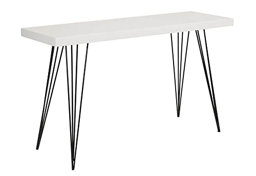 Safavieh Home Collection Wolcott White and Console Table, Black