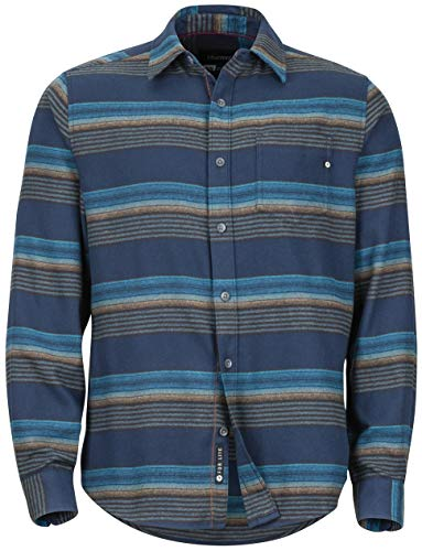Marmot Enfield Midweight Flannel LS Shirt - Men's Dark Indigo Large