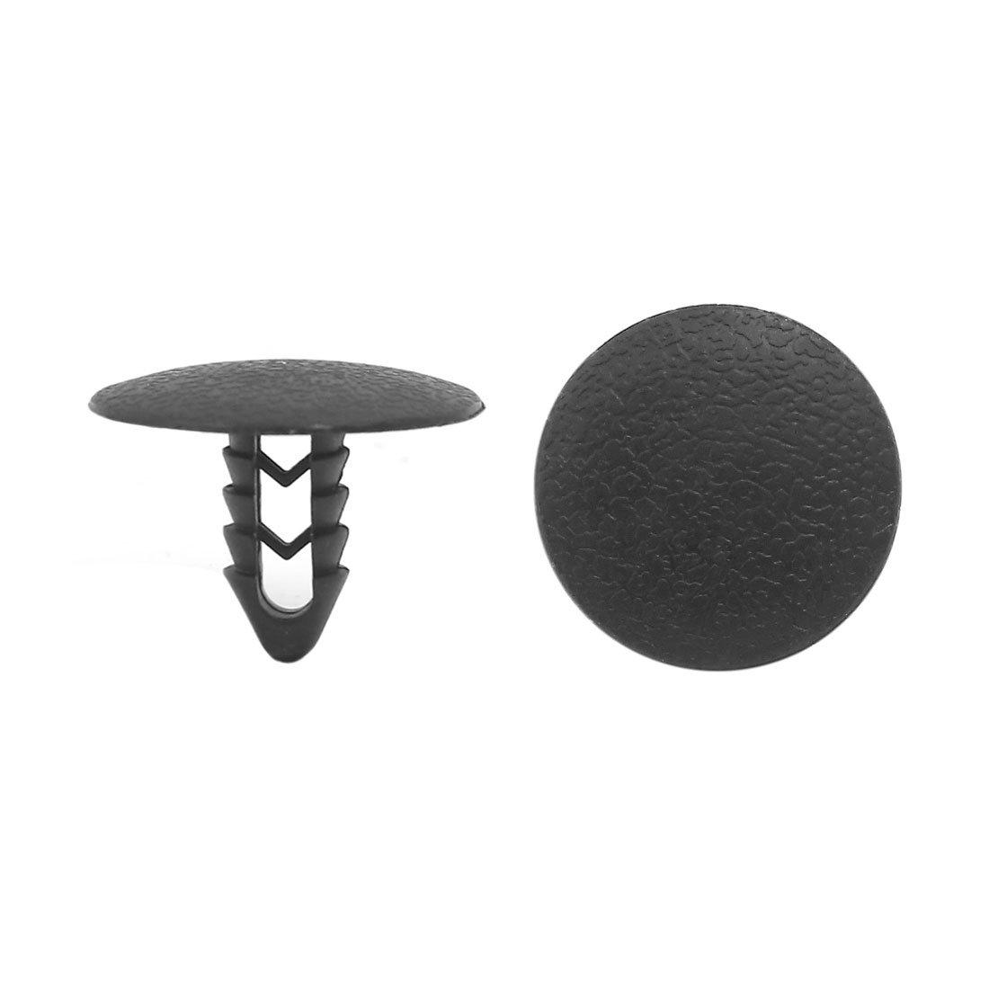 sourcingmap® 50pz foro da 8 mm rivetti plastica fissaggio a pressione clip nero per Auto sourcing map a16072100ux0633