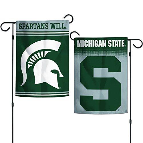 Elite Fan Shop Michigan State Spartans Garden Flag 12.5