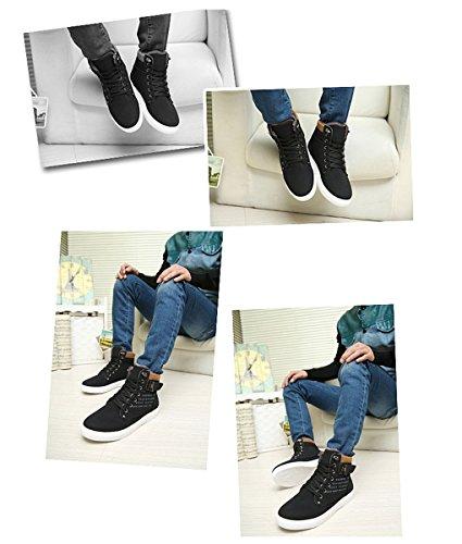 Ginnastica Fibbia Autunno da Piatte Minetom Uomo Inglese con Moda Inverno Casual Scarpe Espadrillas Cintura Sneaker della Nero Stampa SFq0RA1