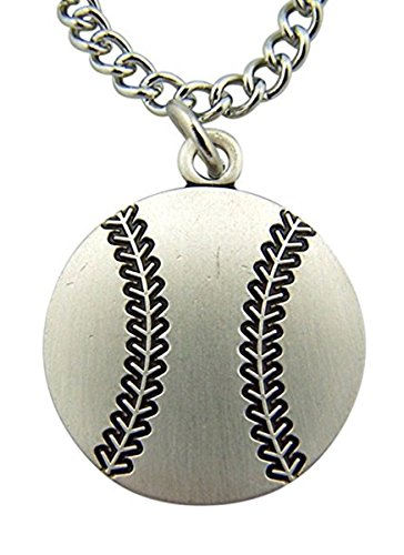 Baseball Christopher - Religious Gifts Sterling Silver Baseball Medal with Saint Christopher Protect This Athlete Back, 1 Inch