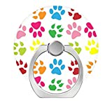 Pop Phone Ring Stand Holder 360 degree Rotation Reusable Ring Holder Finger Grip Universal socket Kickstand for iPhone X 6 6s 7 7 Plus 8 8Plus Galaxy S8 S7 Edge - rainbow cat paw prints