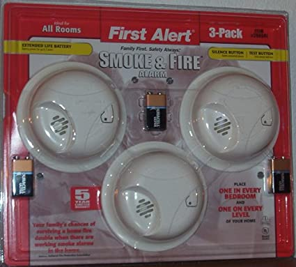 First Alert Smoke Alarm with Silence Feature (3-Alarm Bundle Pack)