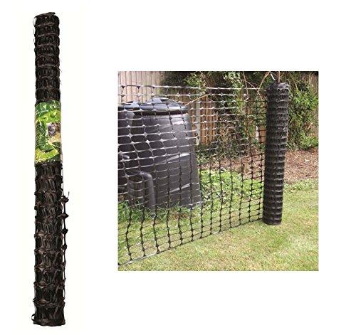 Blackspur 1 x 15M BLACK PLASTIC BARRIER MESH FENCING FOR GARDEN SAFETY
