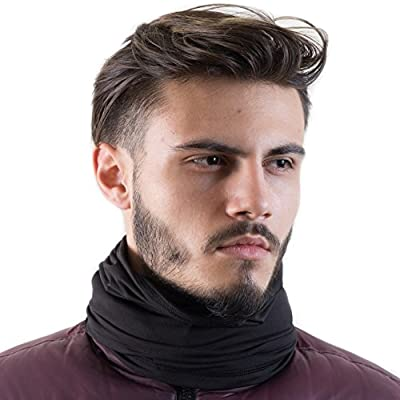 French Fitness Revolution Fleece Neck Warmer [Solids] / Reversible Neck Gaiter Tube, Ear Warmer Headband, Mask & Beanie. Ultimate Thermal Retention, Versatility & Style.