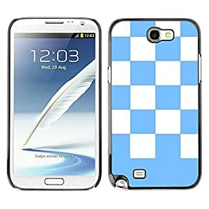 Graphic4You Checkered Pattern Design Hard For Case Samsung Galaxy S5 Cover (Baby Blue)
