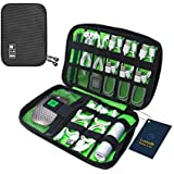 Luxtude Electronic Organizer Travel Cable Organizer Electronics Gadgets Accessories Case for USB Cable Cord, Charger, Power Bank, Phone, Hard Drives, USB Flash Drive, SD Card (Black)