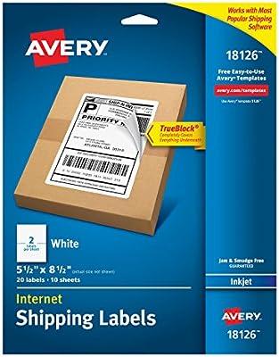 amazon com avery shipping address labels laser inkjet printers