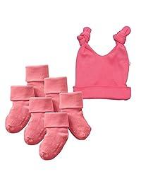 Babysoy Basic Knot Hat and Socks Set