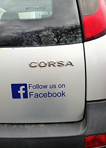X FACEBOOK DECALS  Each FOLLOW  LIKE FOR CAR WINDOW SHOP - Facebook window stickers for business uk