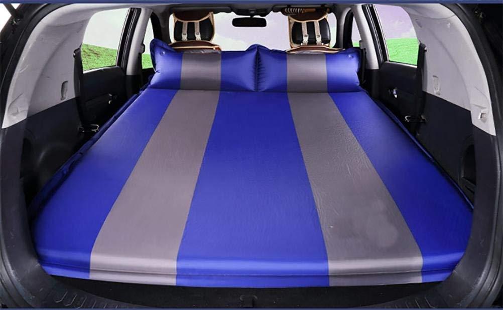 MARK Colchón inflable multifuncional para automóvil, cama inflable para automóvil, asiento trasero de camper con cojín de viaje, colchón extra, cinturón de seguridad, 2 almohadas, cama inflable para n
