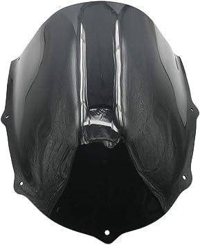 Deflettore Moto parabrezza schermo parabrezza for Aprilia RS50 RS125 RS250 RS 50 125 250 2006 2007 2008 2009 2010 2011 parabrezza Color : Black
