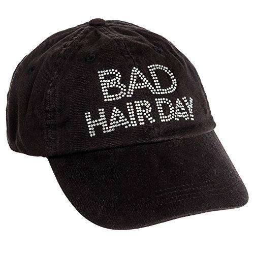 Rhinestone Black Baseball Hat - 6