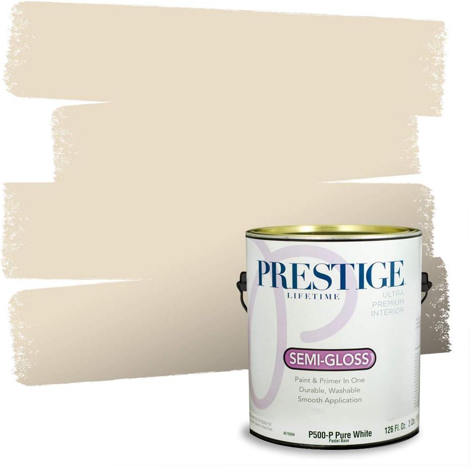 Amazon Com Prestige Paints P500 P Sw6126 Interior Paint And Primer In One 1 Gallon Semi Gloss Comparable Match Of Sherwin Williams Navajo 1 Gallon Sw126 Navajo White Home Improvement