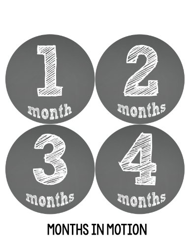 Months in Motion 121 Monthly Baby Stickers Baby Boy or Baby Girl Chalkboard
