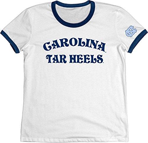 - Blue 84 NCAA North Carolina Tar Heels Adult Women NCAA Women's Vintage Supima Ringer Tee,Small,Navy