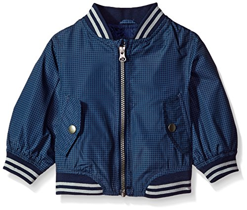 Carter's Baby Boys Lightweight Bomber Jacket, Navy, 18M (Navy Blue Kids Flight Jacket)