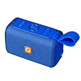 DOSS E-go Portable Bluetooth Speaker with Loud Volume, Increased Bass, IPX6 Waterproof, Built-in Mic. Perfect Wireless Speaker for Phone, Tablet, TV, and More(Blue)