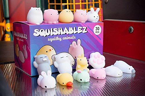 Squishy Animals | Mochi Squishy Toys | Super Soft Mini Animal Squishies | Kawaii Stress Relief Fidget Toys | Lab tested to American safety standards | 30 pcs | by SQUISHABLEZ by Squishablez