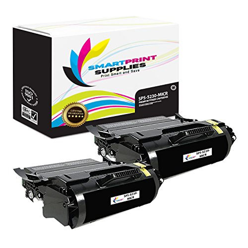 Smart Print Supplies Compatible 330-6968 330-6991 MICR Black Toner Cartridge Replacement for Dell 5230 5350F362T Printers (21,000 Pages) - 2 Pack