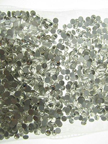 Round Nail Art (Adecco LLC 1440pcs 5mm(16ss) DIY Crystal Round Flatback Rhinestone Nail Art Cellphone Case Decoration(clear))