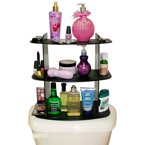 Back Toilet - The Perfect Organizer Shelf for Cosmetics and Makeup. A Great Way to Triple Your Storage and Unclutter Your Countertop. Try it on the Back of Your Toilet ! It Fits Perfect. Made by PPM in the USA!
