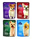 Blue Buffalo Divine Delights Wet Dog Food Variety Pack - 4 Flavors (Duck - Lamb - Chicken - and Beef) - 3oz Each (4 Total Pouches)