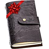 Royal Ink Refillable Leather Journal for Women and Men - Vintage Travel Journal Notebook, Handmade with Blank Pages and Embossed Cover