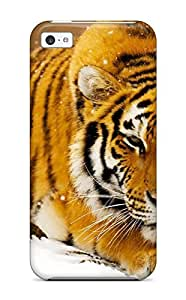 Flexible Tpu Back Case Cover For Iphone 5c - Siberian Snow Tiger