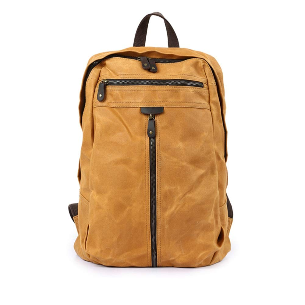 Vintage 20-35 Litre Rucksack Day-to-Day Bag Water Repellant /& Very Flexible Durable Daypack Color : Earth Yellow, Size : 34cm45cm12cm HWX Canvas Backpack Men /& Women