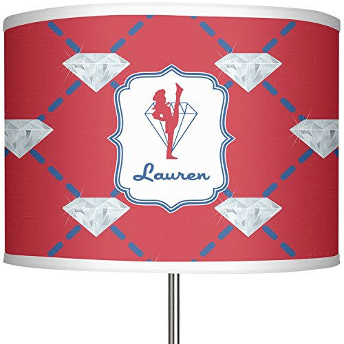 Red Diamond Dancers 13'' Drum Lamp Shade Polyester (Personalized) by RNK Shops