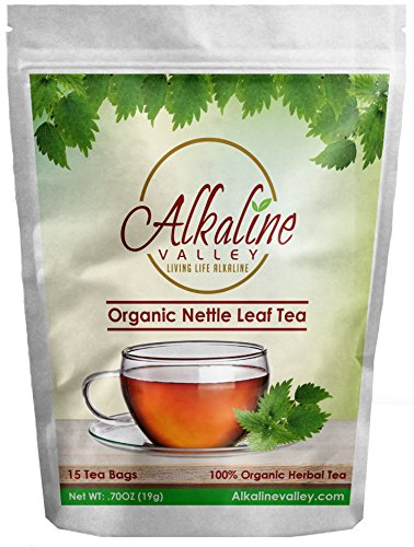 Nettle Leaf Tea, Ortiga Verde - 100% Alkaline and Organic - 15 Unbleached/Chemical-Free Nettle Tea Bags - Caffeine-Free, No GMO