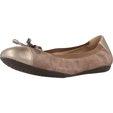 Geox Ballerina Scarpe per Le Donne, Colore Marrone, Marca