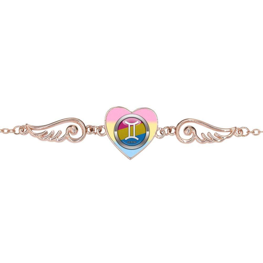BlingDi Unique Gemini Symbol Design Heart Lucky Bracelet Jewelry